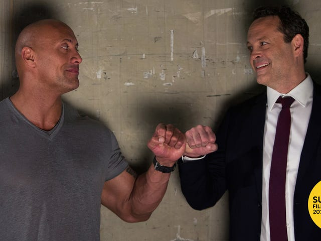 "The Rock hits Sundance with a ""secret"" screening of the crowd-pleasing Fighting With My Family"