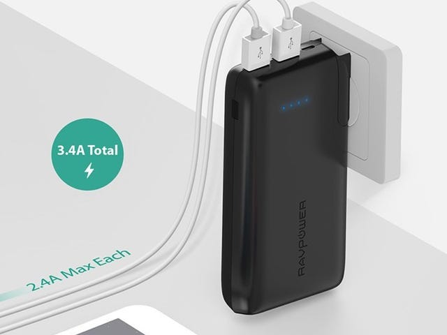 This 10,000mAh Battery Pack Plugs Straight Into the Wall - Get It For Just $19