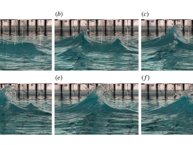 वैज्ञानिकों ने लैब में अजीब तरह से लंबा 'दुष्ट' लहरों को फिर से बनाने की कोशिश की