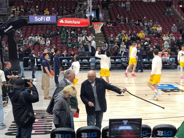 Disgraced Former Michigan State President John Engler Gets Courtside Seats For School's Basketball Games