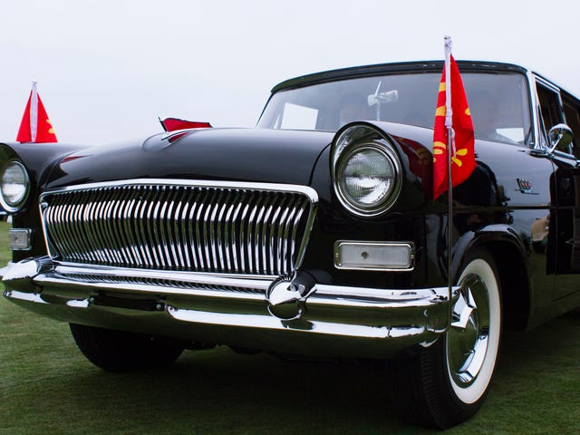 Закрыть с красивыми, странными и почти никогда не видели президентских автомобилей Китая
