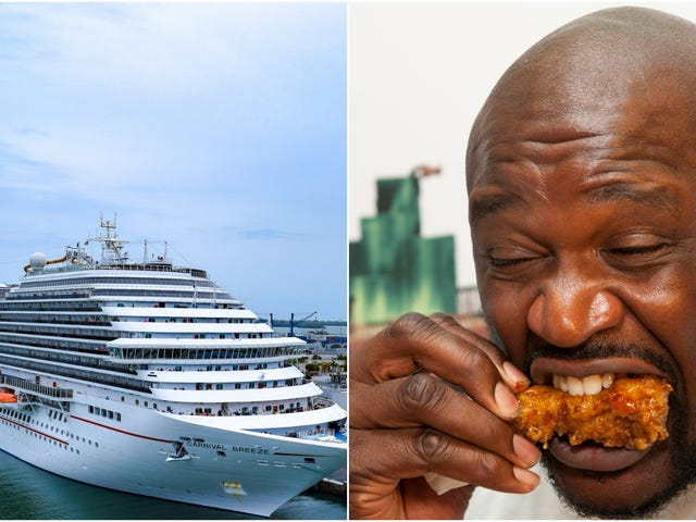 """Chief Fun Officer"" Shaq opens Big Chicken restaurant on cruise ship"
