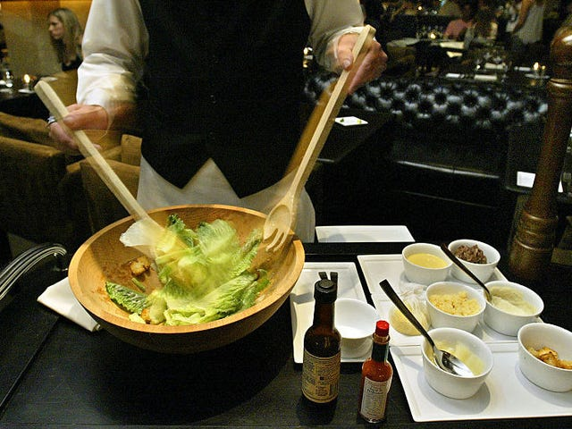 Restaurant dishes prepared tableside, ranked by absurdity