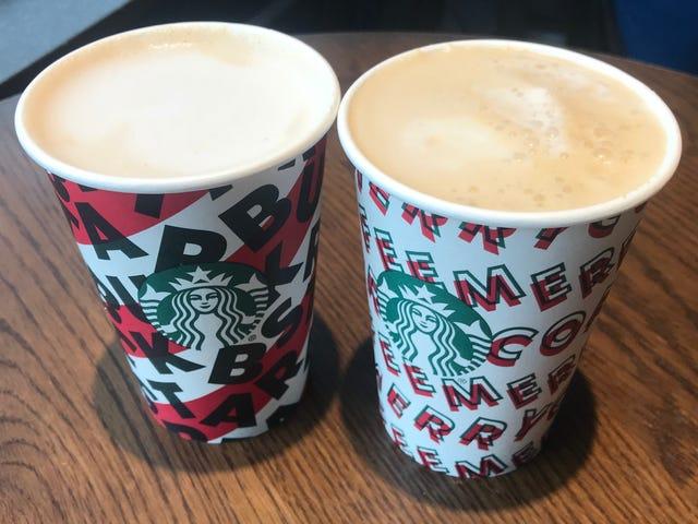 Starbucks tiene dos nuevas bebidas no lácteas, pero solo una sale victoriosa
