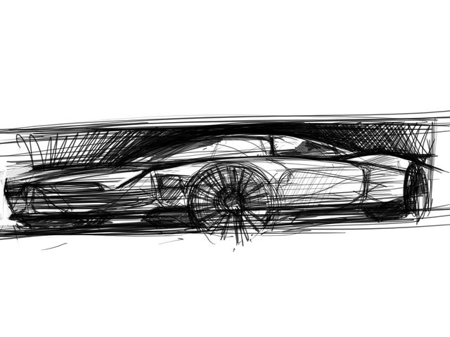 Today's been 13 days in one, so here's a sketch of a Lincoln on a GT