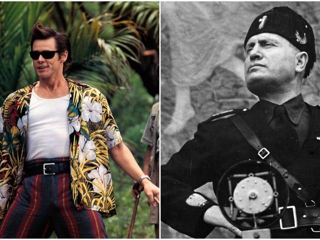 Politiker Jim Carrey feeder med Benito Mussolini&#39;s barnebarn, så hej, hvordan er din dag? <em></em>