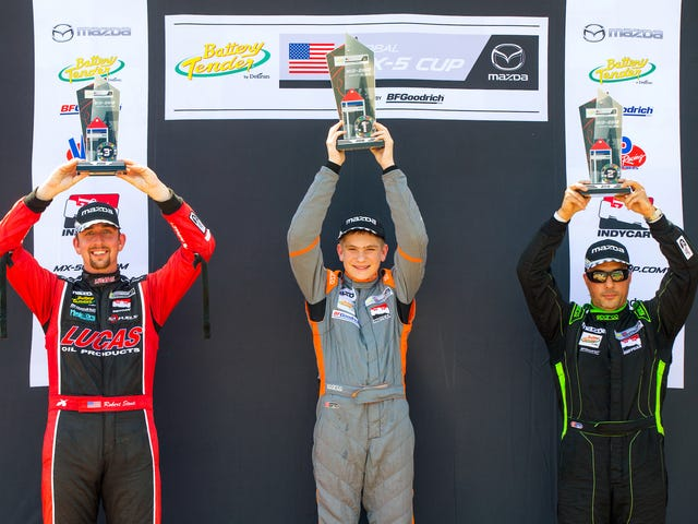 14-Year-Old Robert Noaker Wins MX-5 Cup Race At Mid Ohio