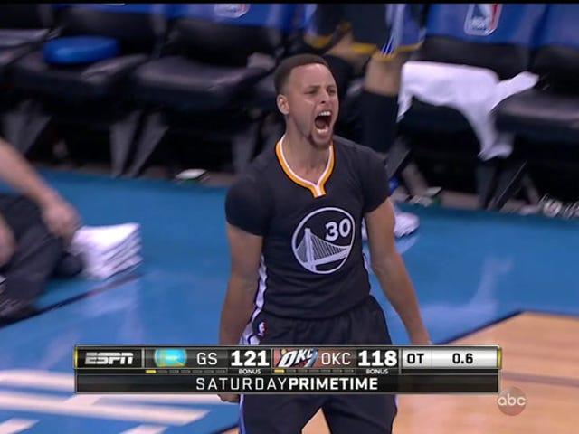 Tässä Stephen Curryn Miracle-pelin voittaja, kuten kutsutaan espanjaksi ja venäjäksi