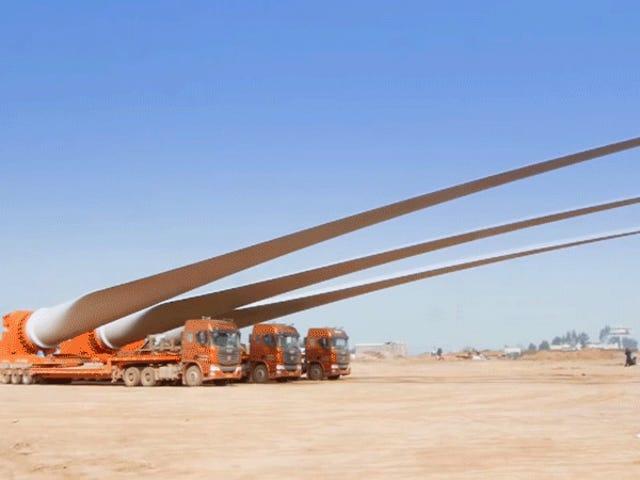 Votre travail est un gateau comparé à ces camionneurs à lames à turbine éolienne