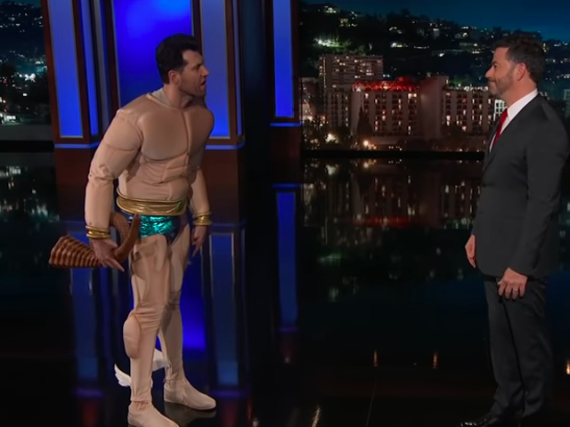 "On Jimmy Kimmel Live!, Billy Eichner's Namor tells his DC counterpart, ""Fuck Aquaman"""