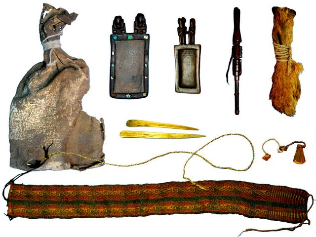 El kit de drogas psicodélicas de 1.000 años de edad contiene trazas de cocaína y ayahuasca