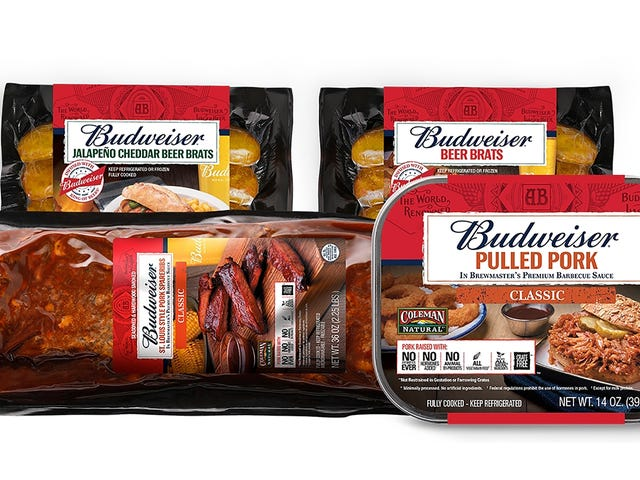 Budweiser, Coleman tout nye øl-kødprodukter til årtusinder