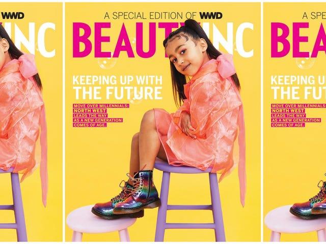 Prouver qu'elle peut suivre les Kardashians et North West Stars sur sa première couverture de magazine solo