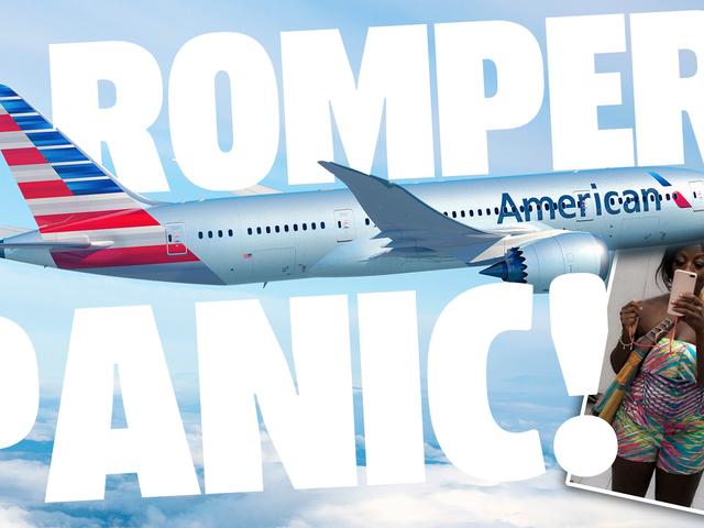 อเมริกันแอร์ไลน์บังคับให้หมอห่อตัวในผ้าห่มเพราะพวกเขาคิดว่า Romper ของเธอไม่เหมาะสม
