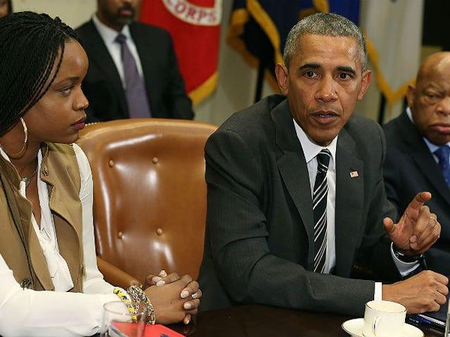 राष्ट्रपति ओबामा का कहना है कि ब्लैक लाइव्स माटर ऐक्टिविस्ट्स 'बेहतर ऑर्गनाइज़र' हैं, वे जितने थे