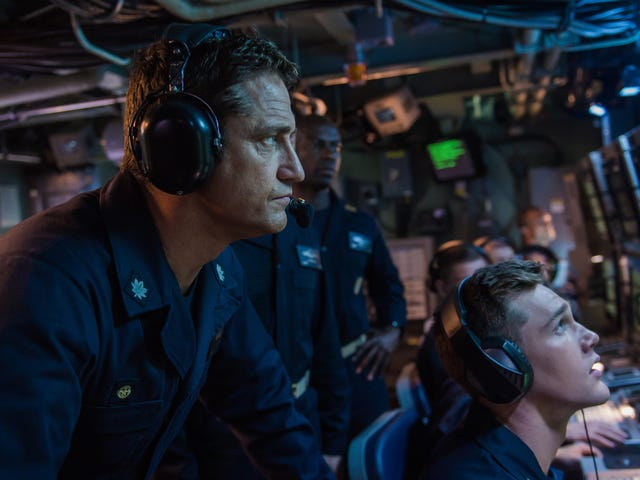 Gerard Butler dives into the watchably dumb submarine thriller Hunter Killer