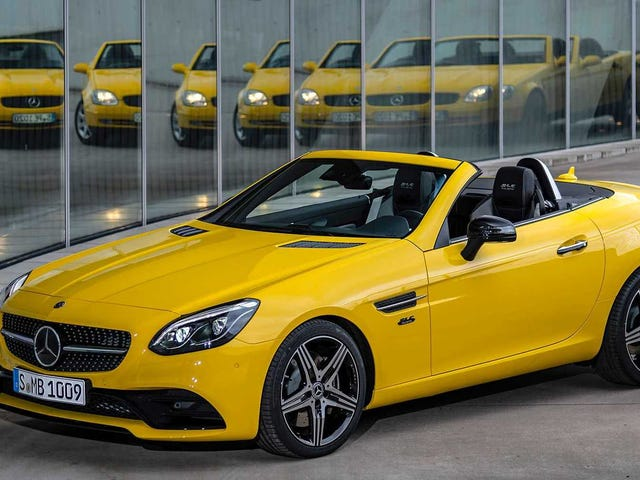 The Mercedes-Benz SLC Brought Back Sun Yellow Just In Time to Be Shot Into the Sun
