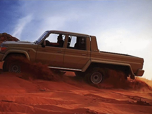 This 6x6 Toyota Land Cruiser Pickup Is An Unstoppable Dune-Crusher