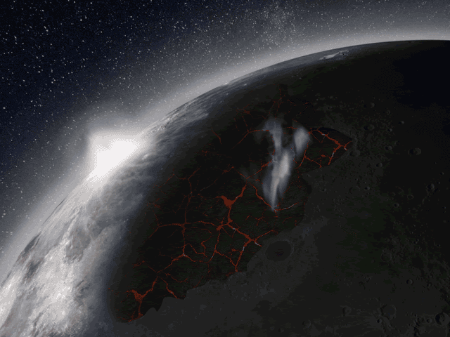 That Time When Volcanic Eruptions Created a Temporary Atmosphere on the Moon