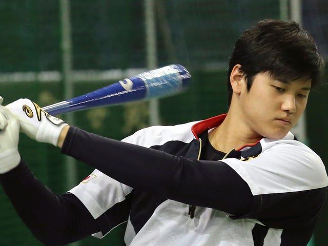Skilled Baseball Man Shohei Otani Cracked A Big Ol' Dinger
