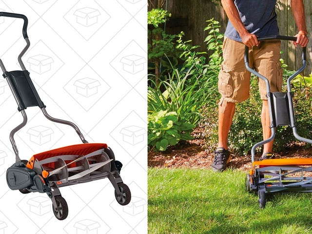 Amazon's Trimmed The Price Of This Eco-Friendly Reel Mower