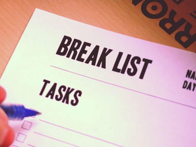 """अधिक हो जाओ के लिए एक """"तोड़ने की सूची"""" के लिए अपनी सूची को स्वैप करें"""