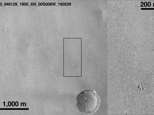 La sonda europea Schiaparelli se estrelló contra Marte와 300 킬로미터의 거리