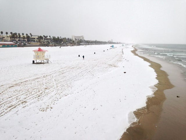 What One Southern California Beach Looked Like This Morning