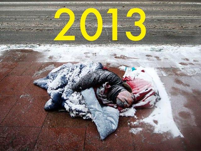 这张在街上冻结的无家可归者的病毒照片实际上是从2013年开始......在加拿大