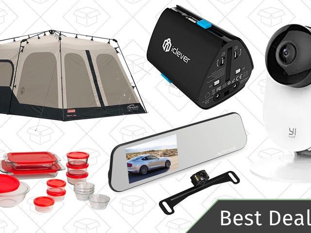 周六的最佳交易:科尔曼露营金盒,家庭安全系统,备份相机,等等