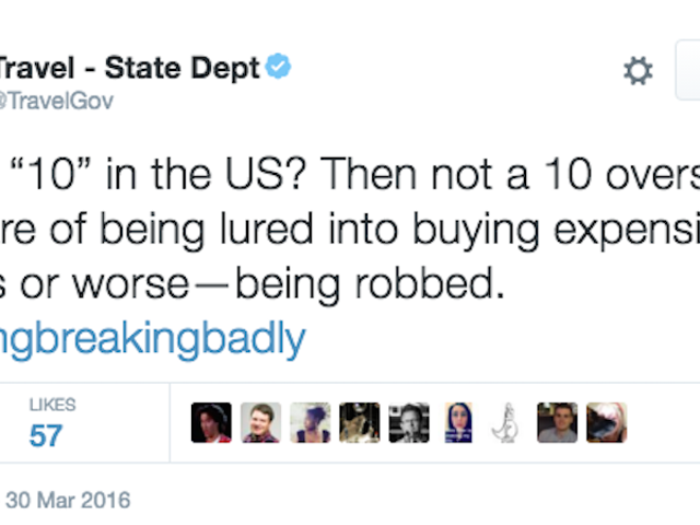 State Department: Do not Get Your Hopes Up, Travelling Uggos