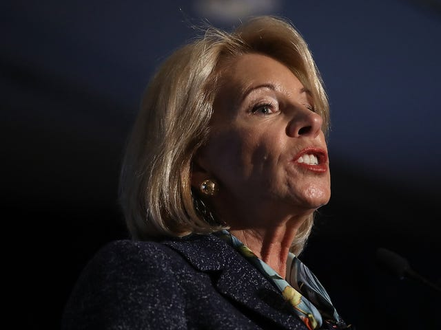 Betsy DeVos Believes 'School Choice' Includes Schools Choosing to Report Undocumented Students to ICE