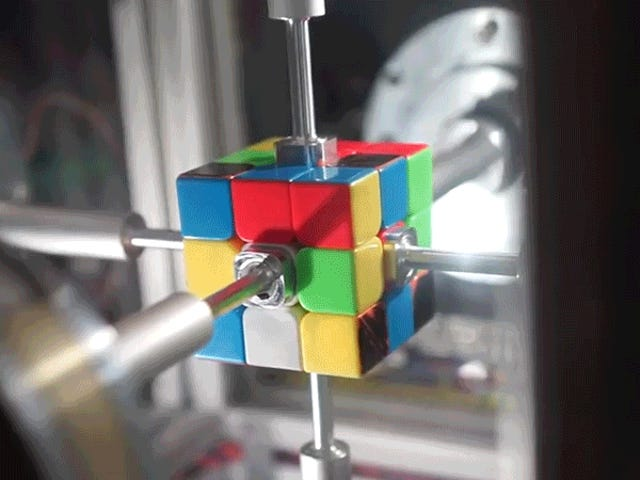Watch This Machine Solve a Rubik's Cube Faster Than My Jaw Can Drop
