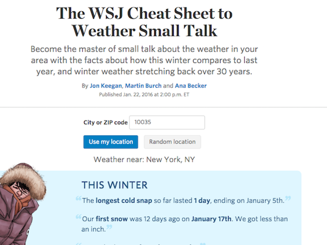 This Weather Cheat Sheet Makes Sure You Always Have Factoids In Your Back Pocket