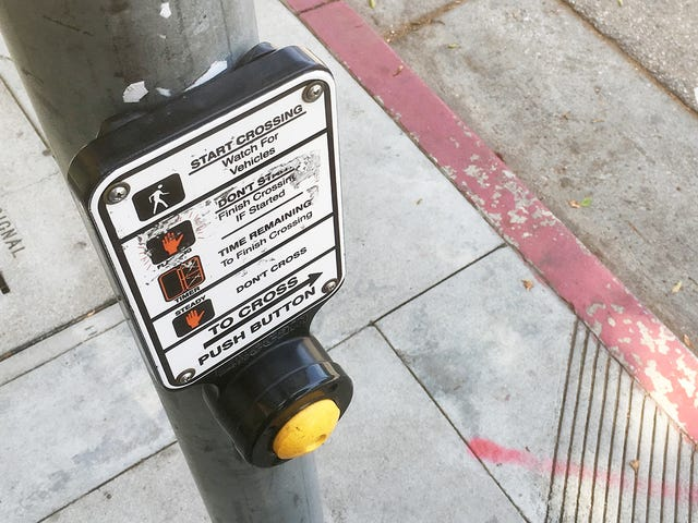 The Crosswalk Button Must Be Pressed Many Times