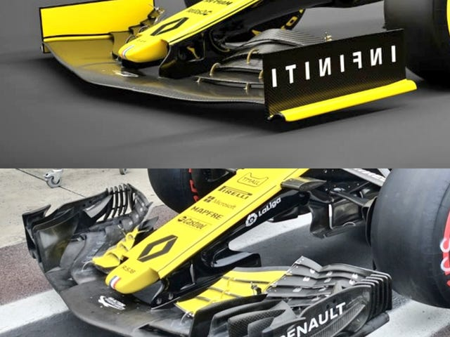2018 vs 2019 Renault F1 wing