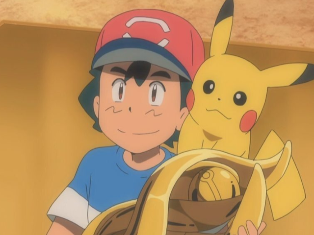 Ash Just vann en Pokémon League i The Anime