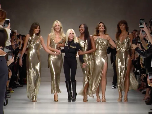 Versace Staged a Perfect Homage to Gianni and '90s Supermodels