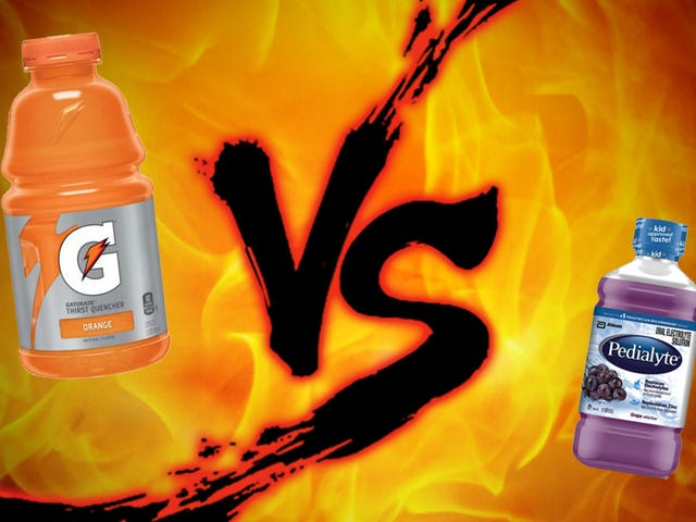 Showdown penyembuhan hangover: Gatorade vs Pedialyte
