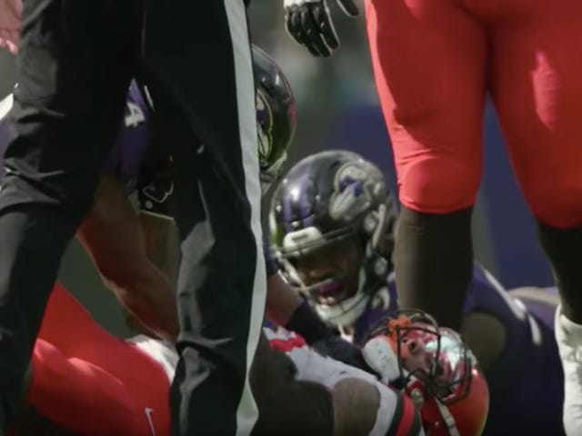 Ravens Try To Clear Marlon Humphrey By Releasing Video Of Him Pushing Fist Into Odell Beckham Jr.'s Neck