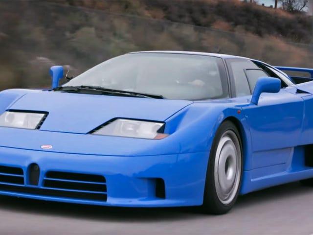 これらのブガッティEB110説明者はあなたが持っていたそのおもちゃの青い車のためのあなたに新しい感謝を与えるでしょう