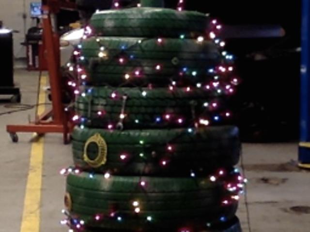 🎄 made of tires, via my Auto class.