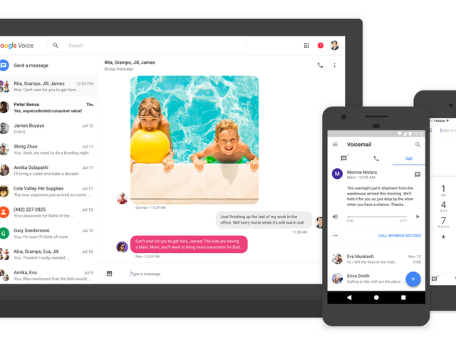 Google Voice Gets Group Texts, MMS, and a New Look After Years of Stagnation