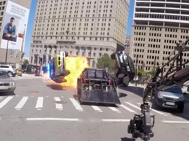 Transformers 5 Movie Set Uses Big Car To Crash Like A Robot