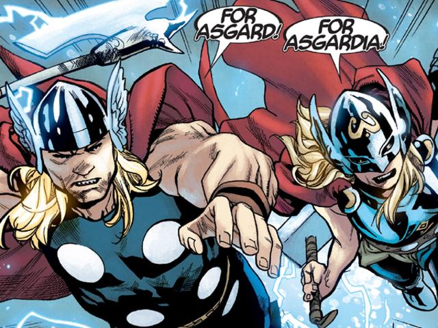 Η τοποθέτηση δύο Thors μαζί δείχνει την ανθρώπινη πλευρά των θεών της βροντής