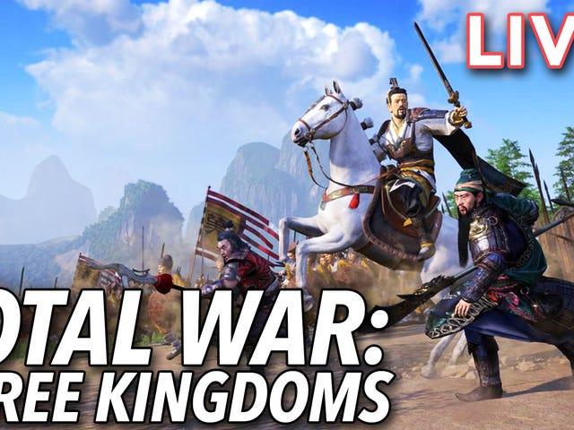 J'essaie d'unifier la Chine dans Total War: Trois royaumes en ce moment sur Twitch
