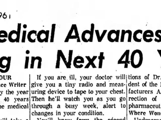 These Medical Miracles Were Supposed to Happen by the Year 2000