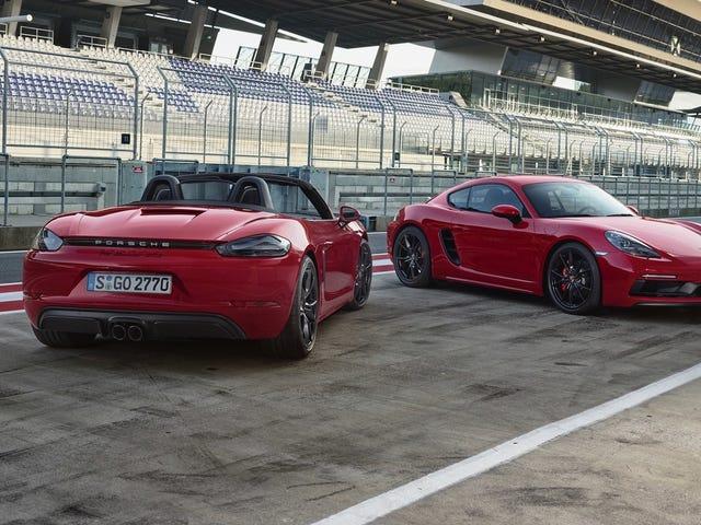 365 HP Porsche 718 GTS имеет больше мощности, больше Alcantara, все еще одно количество цилиндров