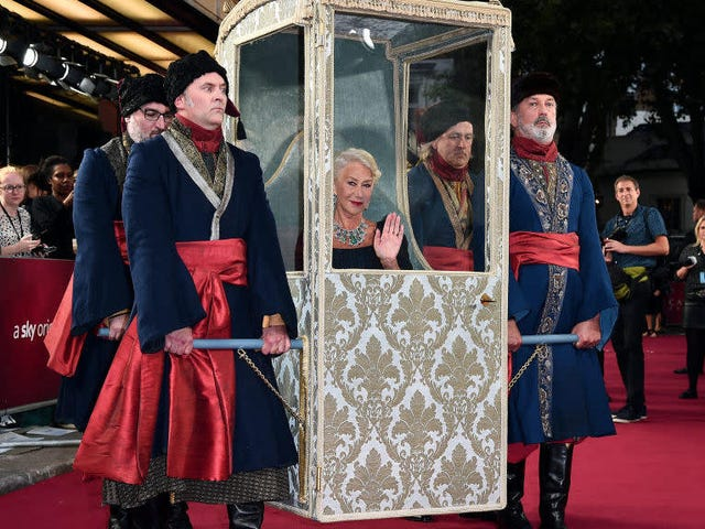 Helen Mirren Now Travels By Manservant
