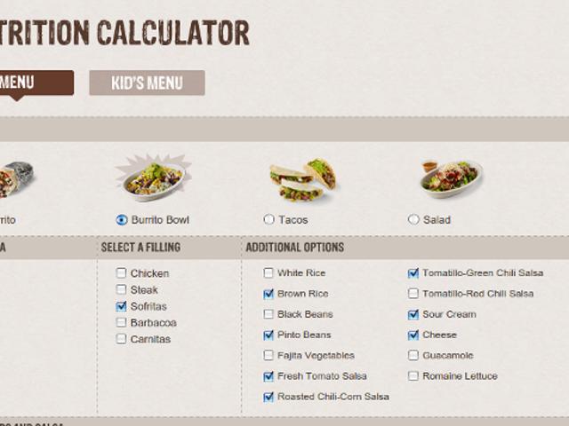 Los restaurantes que van más allá con las calculadoras de nutrición